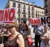 CONCENTRACIÓN EN MADRID POR ATENTADO TERRORISTA EN PALMANOVA. JULIO 2009